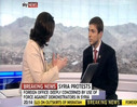 Ribal Al-Assad calls on the Syrian regime to implement reforms swiftly and seriously in Sky News interview